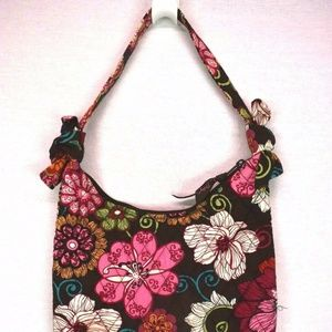 Vera Bradley Hipster Purse Handbag Brown Floral
